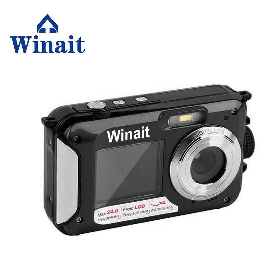 3Meters Waterproof Digital Cameras DC-16 24MP 5.0MP CMOS HD 1080P Professional Digital Camera Dual Display 550mA Lithium Battery