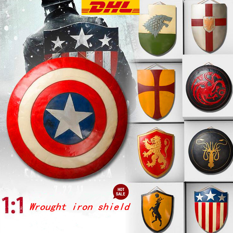 Game of Thrones Captain America 1:1 LIFE SIZE Shield Props Shield Winter is Coming Pure Hand Wall Decoration Shield Crafts T116 life size scary severed head party decoration haunted house halloween props