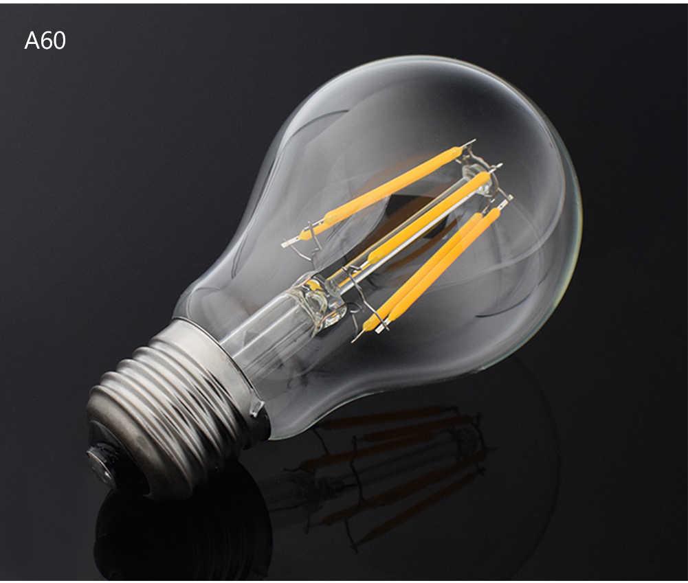 Gradateur Antique rétro Vintage LED Edison ampoule E27 LED ampoule E14 Filament lumière 220V verre ampoule lampe 8W 16W bougie lumière lampe