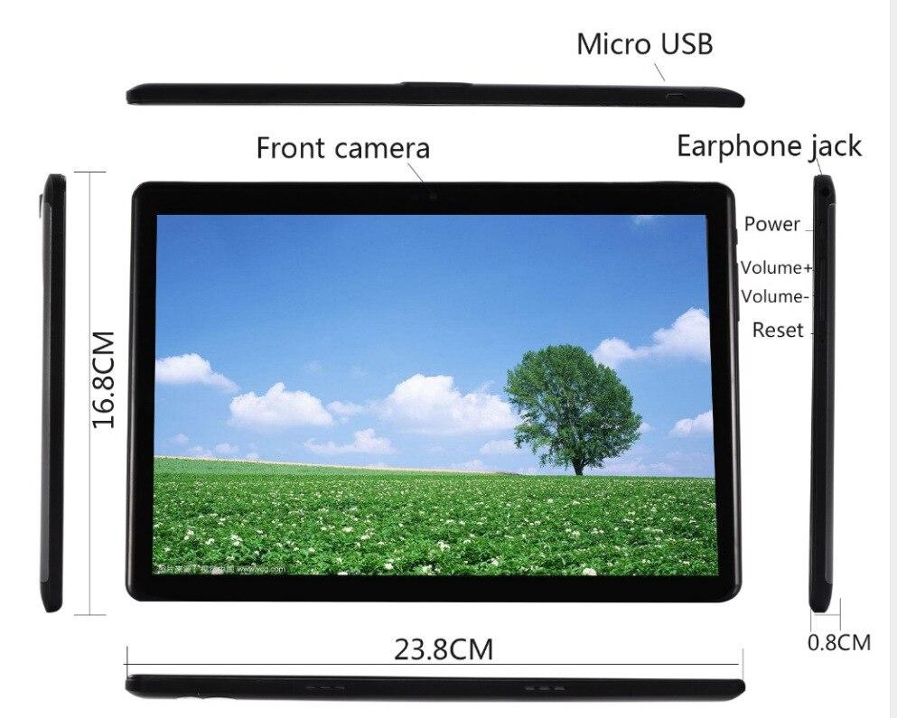Gros OEM 10 pouces Android 7.0 Octa Core PC 4G LTE 3G tablette mobile appel téléphone portable - 2