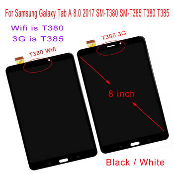 STARDE LCD for Samsung Galaxy Tab A 2017 8.0 SM-T385 T385 3G / SM-T380 T380 Wifi LCD Display Touch Screen Digitizer Assembly 8 free shipping for samsung galaxy tab 3 8 0 sm t310 t310 wifi touch screen digitizer glass lcd display assembly replacement