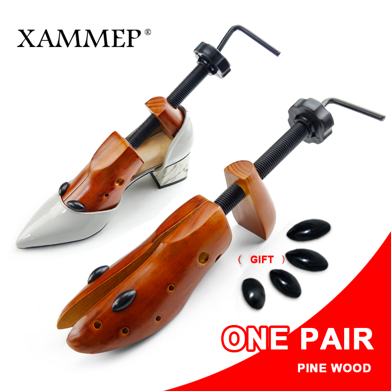 Shoe Tree 1 Pair Wooden For Men and Women Shoes Expander shoes Width and height Adjustable Shoe Stretcher Shaper Rack Xammep