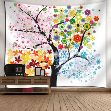Amazing Graceful Night Starry Sky Beautiful Sight Printed Wall Hanging Tree Natural Scenery Tapestry Living Room Decor