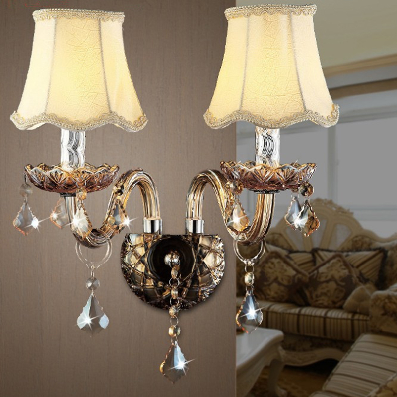 Crystal wall lamp Luxury Modern Living Room K9 crystal wall light Top Grade beside Crystal wall Lighting crystal wall sconce
