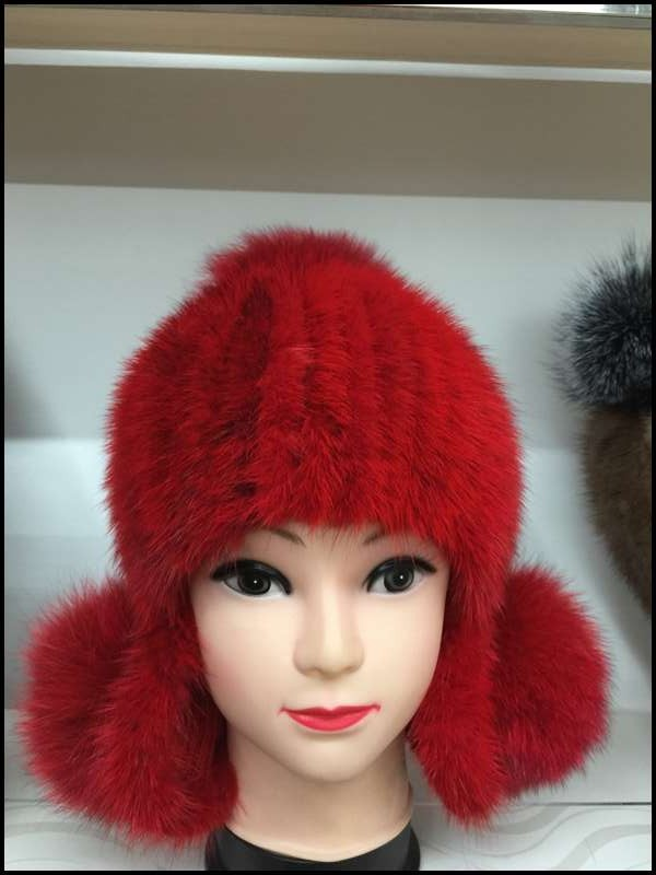 New Arrival Hot sale real mink fur hat for women winter knitted mink fur beanies cap with earflap female fur cap real mink fur hat for women winter full fur hat with flower top 2016 new arrival good quality multicolor female luxury mink cap