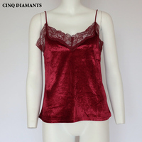 CINQ DIAMANTS Sexy Lace Camis Vest Summer Women Tank Tops Short Women S Cropped Feminino Ropa
