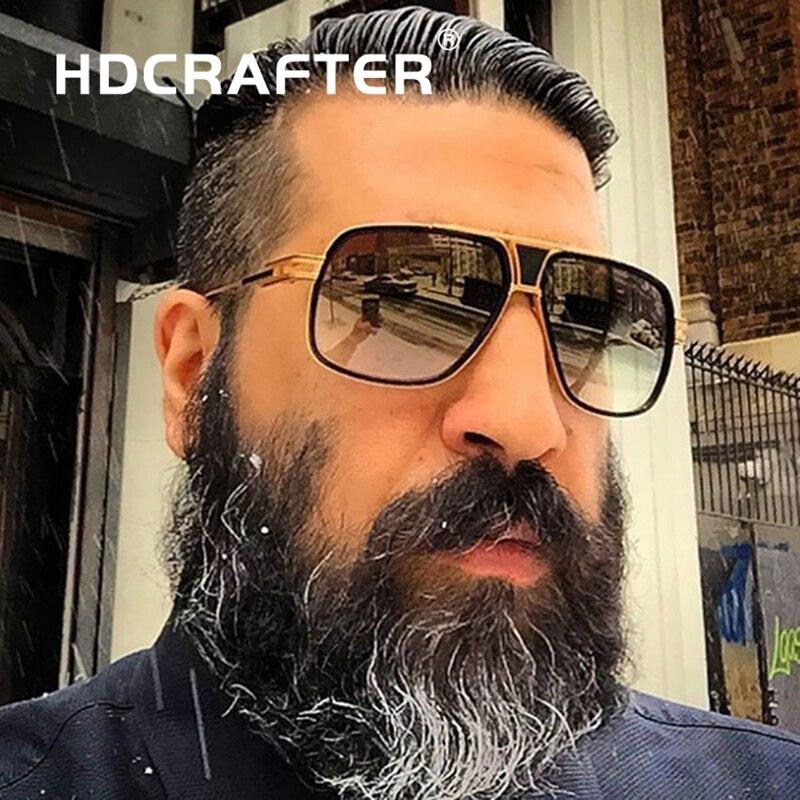 HDCRAFTER Sunglasses Men Brand Designer Sun Glasses Driving