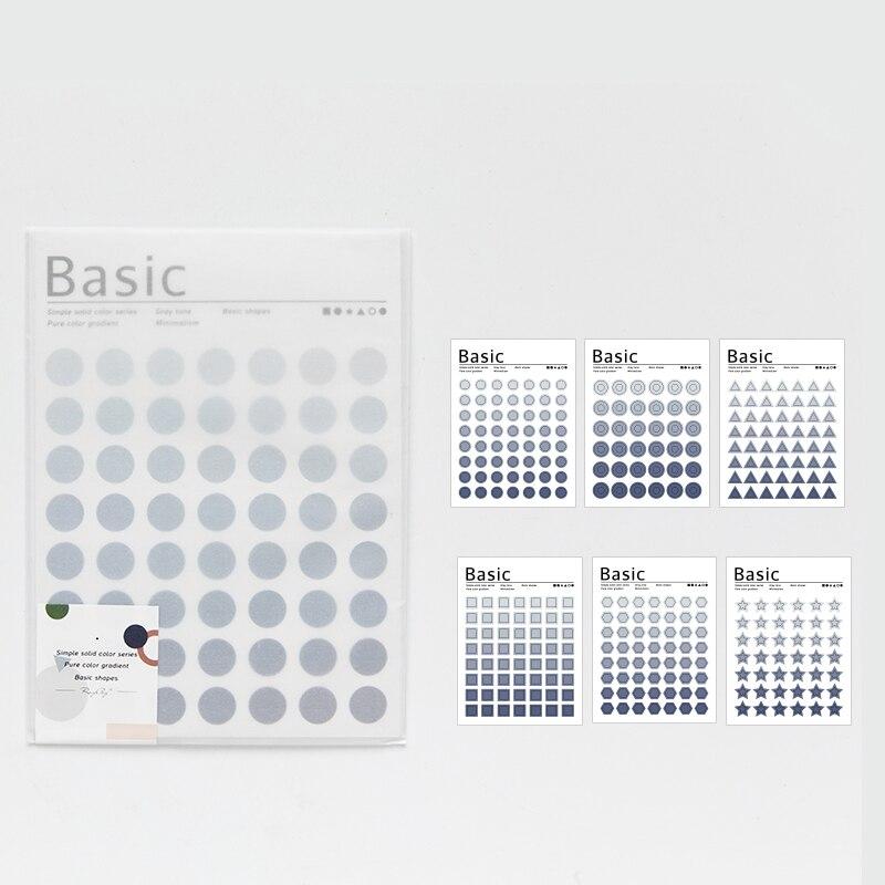 Mohamm Kawaii базовый материал Dot серия Милая наклейка на заказ s дневник стационарные хлопья скрапбук DIY декоративная наклейка s - Цвет: A