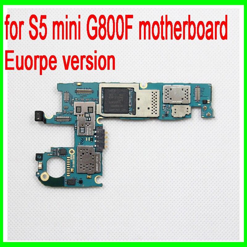imágenes para 100% abierto Original para Samsung galaxy mini S5 G800F placa base, la versión de Europa para mini S5 G800F mainboard, envío gratis