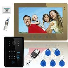 YobangSecurity Touch Key 10″ Video Door Phone Intercom System 1 RFID Keypad Code Camera 1 Monitor With Electronic Door Lock
