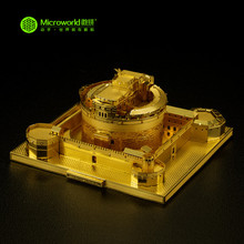 MICROWORLD Famous Building Saint Angel Castle 3D Metal Puzzle Adult Collection Gold and Silver Handmade Model Gifts