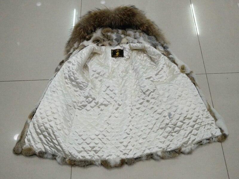 Reccoon Survêtement Grass Réel Fourrure Naturel Manteaux Femmes La Pièces De Yellow À Mode vente Hot Manteau Lapin Chaud Vestes Col 4ARjqL53