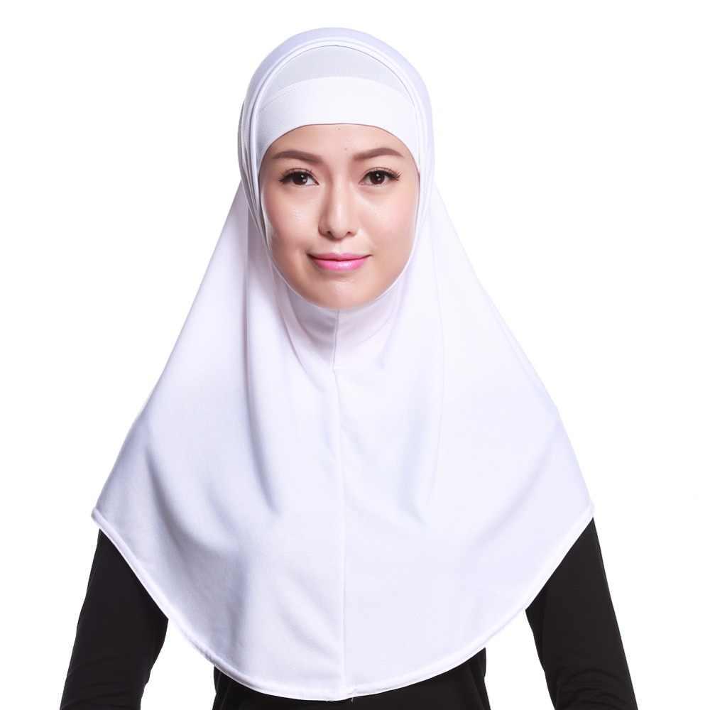 Donne Sciarpa Musulmana Testa Solida Rivestimenti Caps Hijab Abaya Foulard Cofano Sotto gli Involucri Tappi Arabo Islamico Foulard