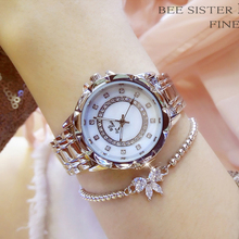 Women Dress Wristwatches Fashion Waterproof Quartz Watch Montre BS Bee Sister Luxury Stainless Steel