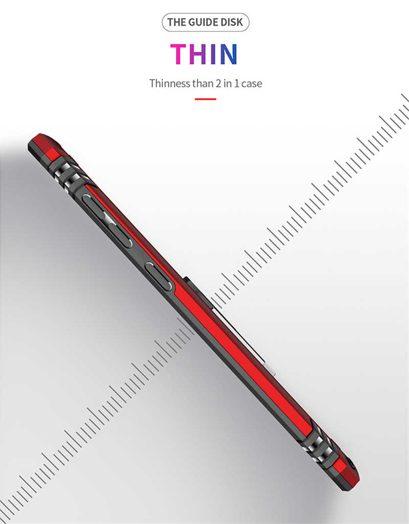 מגנט מתכת עמיד הלם Kickstand טלפון מקרה לסמסונג גלקסי A50 SM-A505F A505FN A505FM שריון סיליקון טבעת מחזיק כיסוי אופן בסיסי