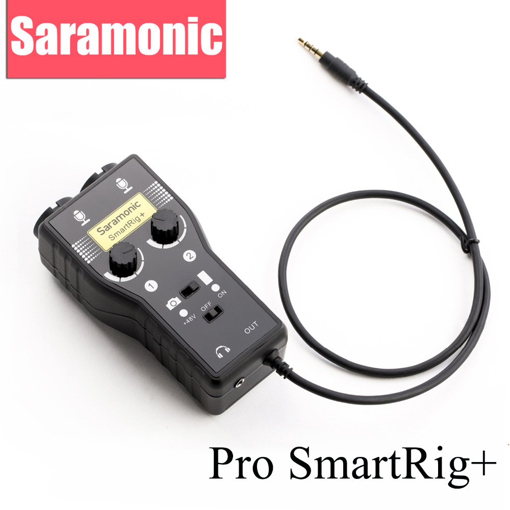 Saramonico XLR / 3.5mm Microfono professionale Mixer audio Preamplificatore e chitarra interfaccia per fotocamera DSLR iPhone 7 6 6s iPad iPod Xiaomi