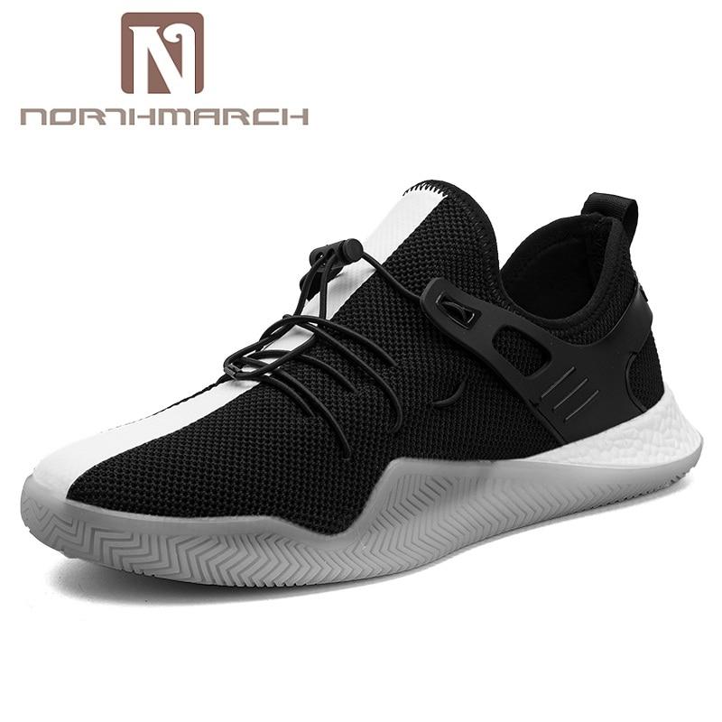 2018 Masculino Moda Verano Casual Tenis Adulto Zapatos Zapatillas Northmarch blanco Esportivo Nueva Negro Hombres Transpirable Malla q1nPE1Uwx