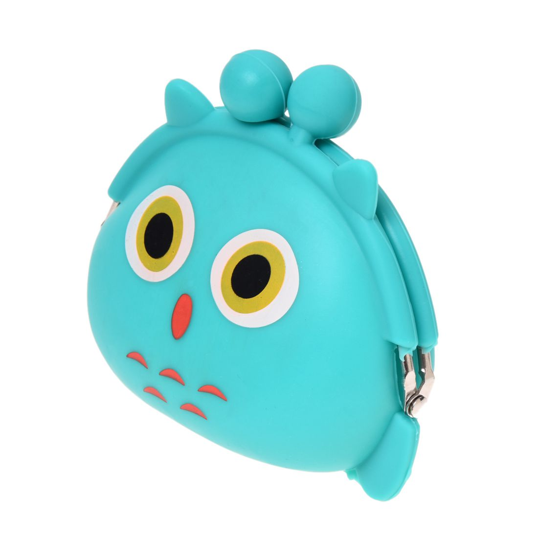 WCS-Women Girls Wallet Kawaii Cute Cartoon Animal Silicone Jelly Coin Bag Purse Kids Gift Owl