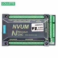 NVUM 6 трехосный контроллер ЧПУ MACH3 интерфейсная плата USB карты 300 кГц удостоверения личности для шагового двигателя