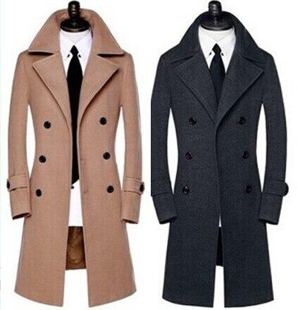 Новое поступление шерстяные тепловой двубортный длинное пальто Мужская куртка высокого качества большие размеры M L XL XXL 3XL 4XL 5XL 6XL 7XL 8XL9XL