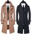2016 la nueva llegada de lana prendas de vestir exteriores termal abrigo largo diseño de alta calidad masculina más el tamaño Ml XL XXL 3XL 4XL 5XL 6XL 7XL 8XL9XL