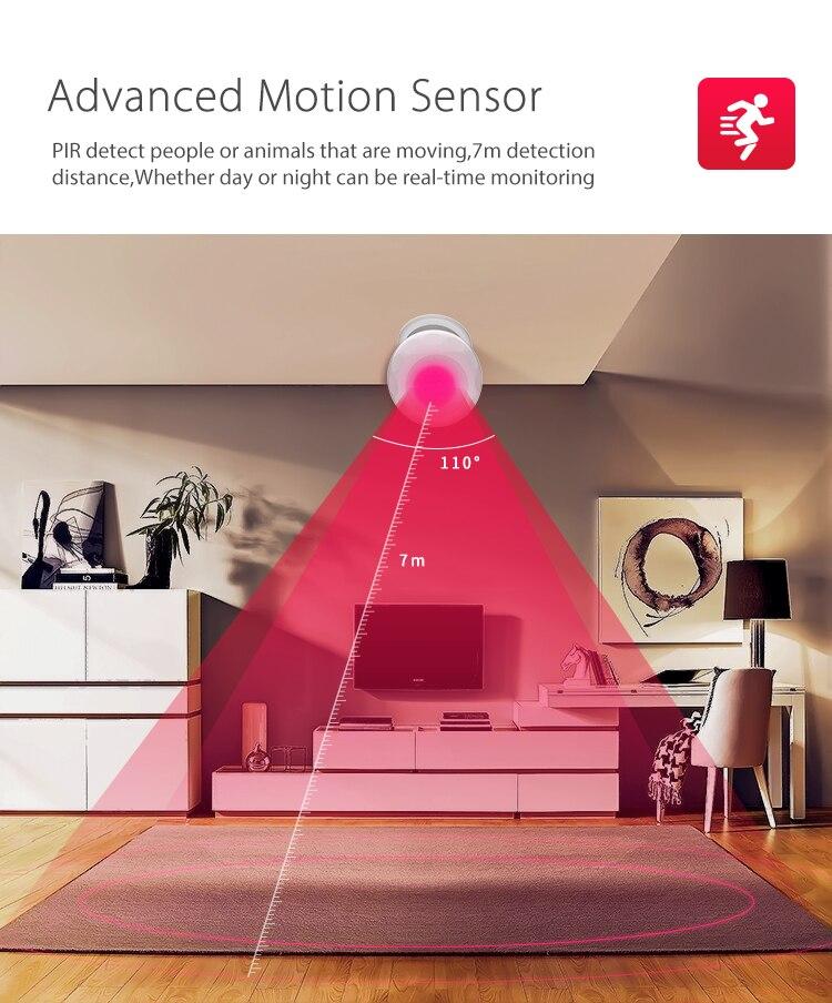NEO COOLCAM Wireless Wifi PIR Motion Sensor Alarm Detector No HUB Required Smart Home Automation Modules Works Google Home Alexa