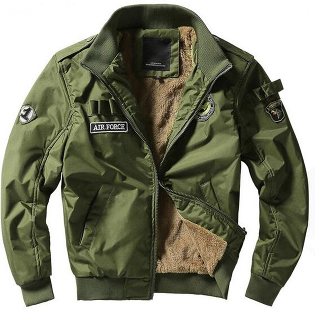 2016 new winter thick Bomber Jackets Men winter coat Army military Outerwear Jacket mens Air force one Male Coats plus size 4XL