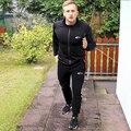 Новое Прибытие фитнес куртка с капюшоном черный Размер M-XXL с длинным рукавом молнии куртка быстросохнущие куртка доказательства воды функция носить