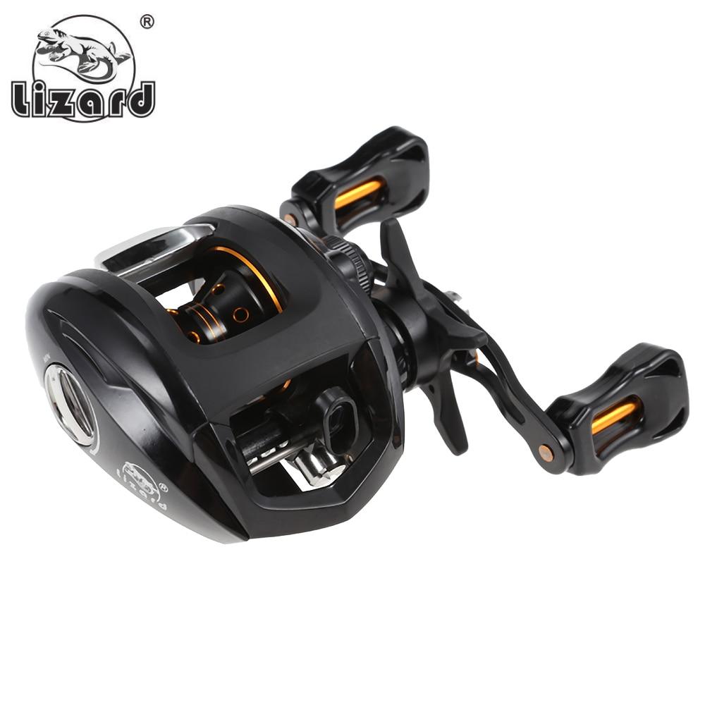 Lizard 12+1 Ball Bearings 6.3:1 Left/Right Hand Fishing Baitcasting Reel Fishing Reels Wheel 10kg Max Drag Power Magnetic Brake