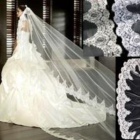 ZYLLGF Wedding Veil 3m Lace Wedding Cathedral Veil Veilvelo De Novia De Encaje Bridal Long Veil BL25