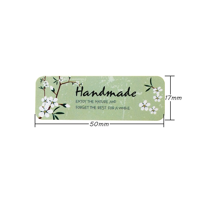 Купить с кэшбэком 120 Pcs/lot Small White Flower Cursive Handmade Blue Bottom Sealing Sticker Scrapbooking Labels DIY Gift Packaging Seal Sticker