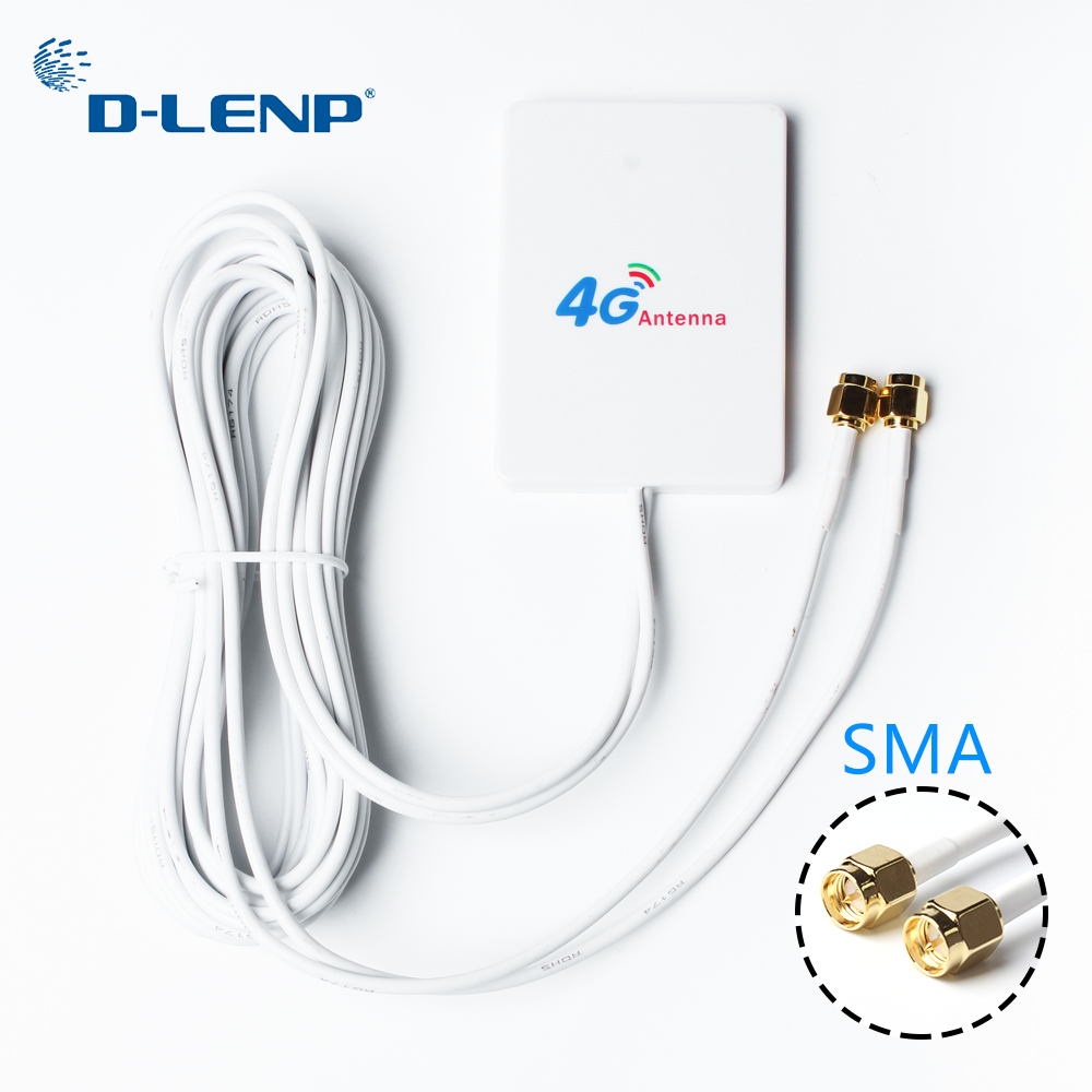 Dlenp SMA 4G LTE Antenna 3G 4G External Antennas for Huawei WiFi Rotuter 3G 4G LTE Router Modem Aerial with 3m cable стоимость