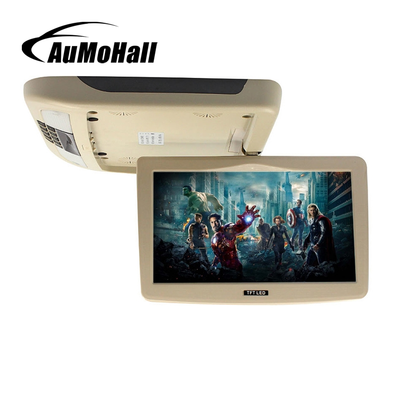 купить AuMoHall 9 Inch Flip Down TFT LCD Monitor 12V Car Monitor Beige Car Roof Mounted Monitor Car Ceiling Monitor with 2 Video Input по цене 4869.64 рублей
