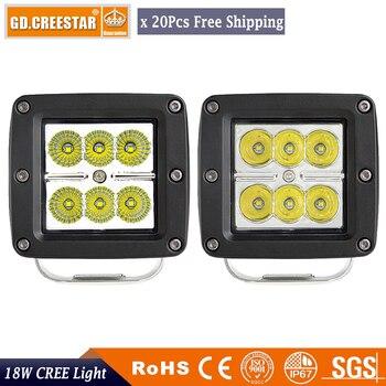 18Watts 3inch  LED Work Light Spot Square ATV UTV Boat Truck 12V Car Light Driving Fog Light led off road lights x20pcs