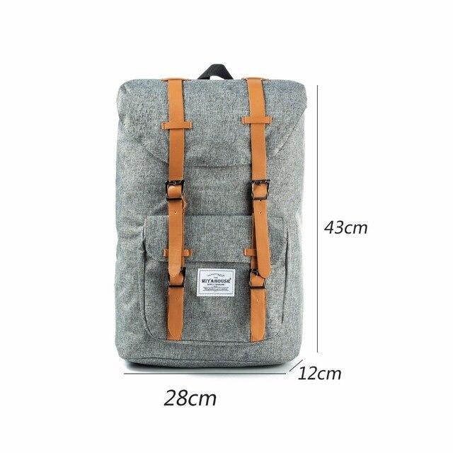 European American Style Backpacks Black Unisex Backpack Men Canvas Backpack Women School Backpacks Laptop Travel Bag 3