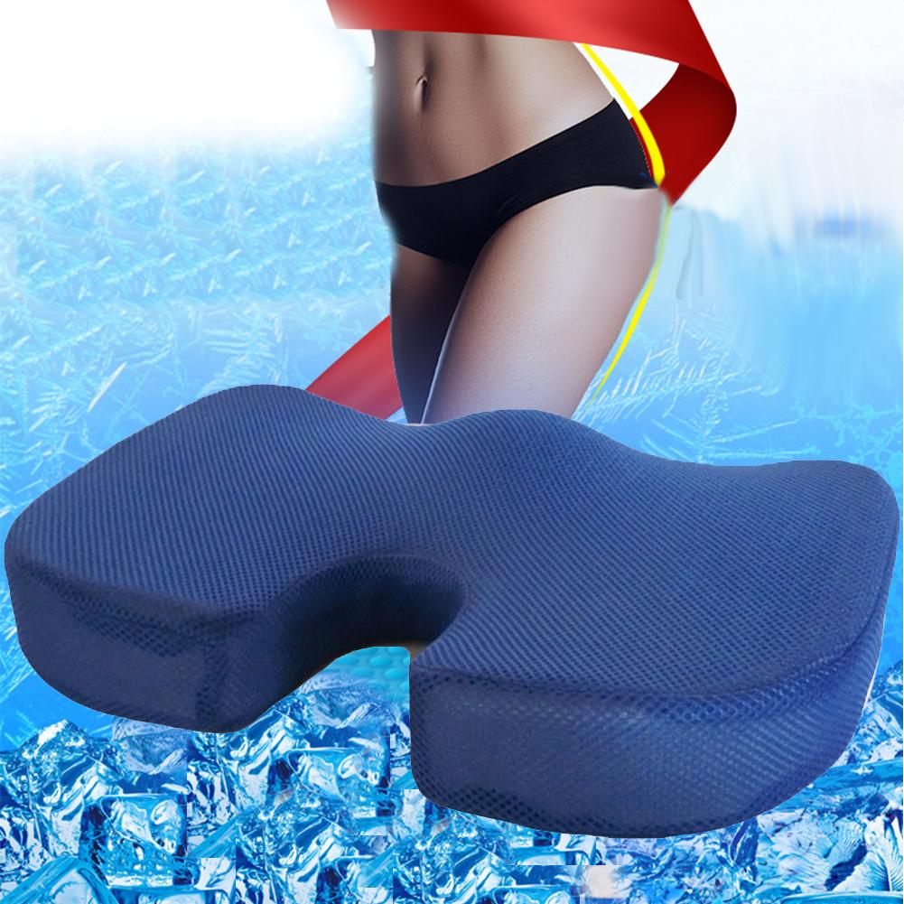 Portable Memory Foam Gel Seat Cushion Orthopedic Pain Relief Pad Office Sitting Pillow