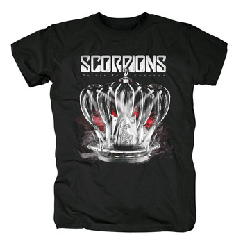 Camisetas De La Banda De Rock | Bloodhoof Escorpiones Volver Para Siempre álbum Heavy Metal Banda De Pop Rock Negro Nueva Camiseta Tamaño Asiático