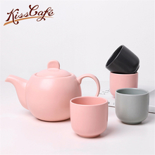 600ml/150ml Coffee Pot Nordic Minimalism Porcelain Matte Glazed Surface Frothing Teapot Teacup Tea set Container