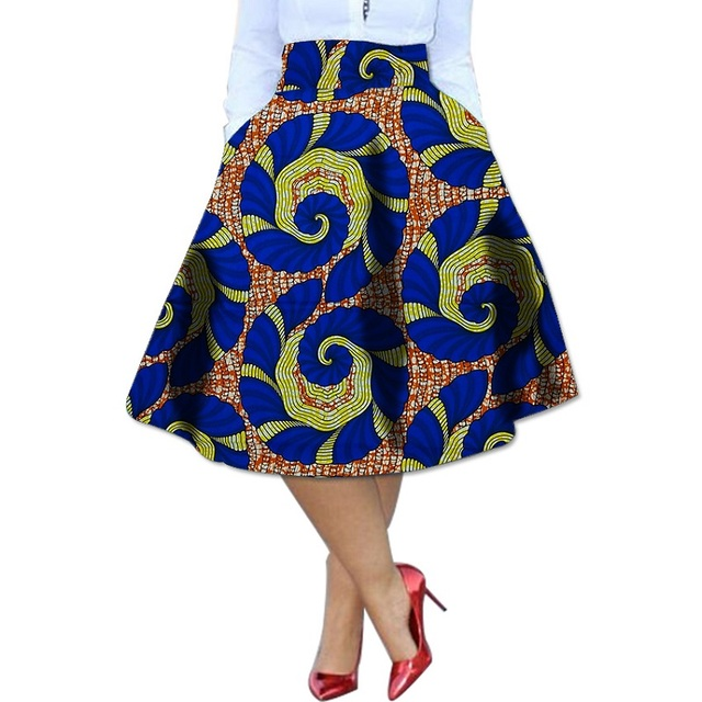 dd24bf9bfd African Kente Skirt African Clothing Printed Skirts Ankara Pleated Skirt  Dashiki Print Summer Streetwear Women Clothes