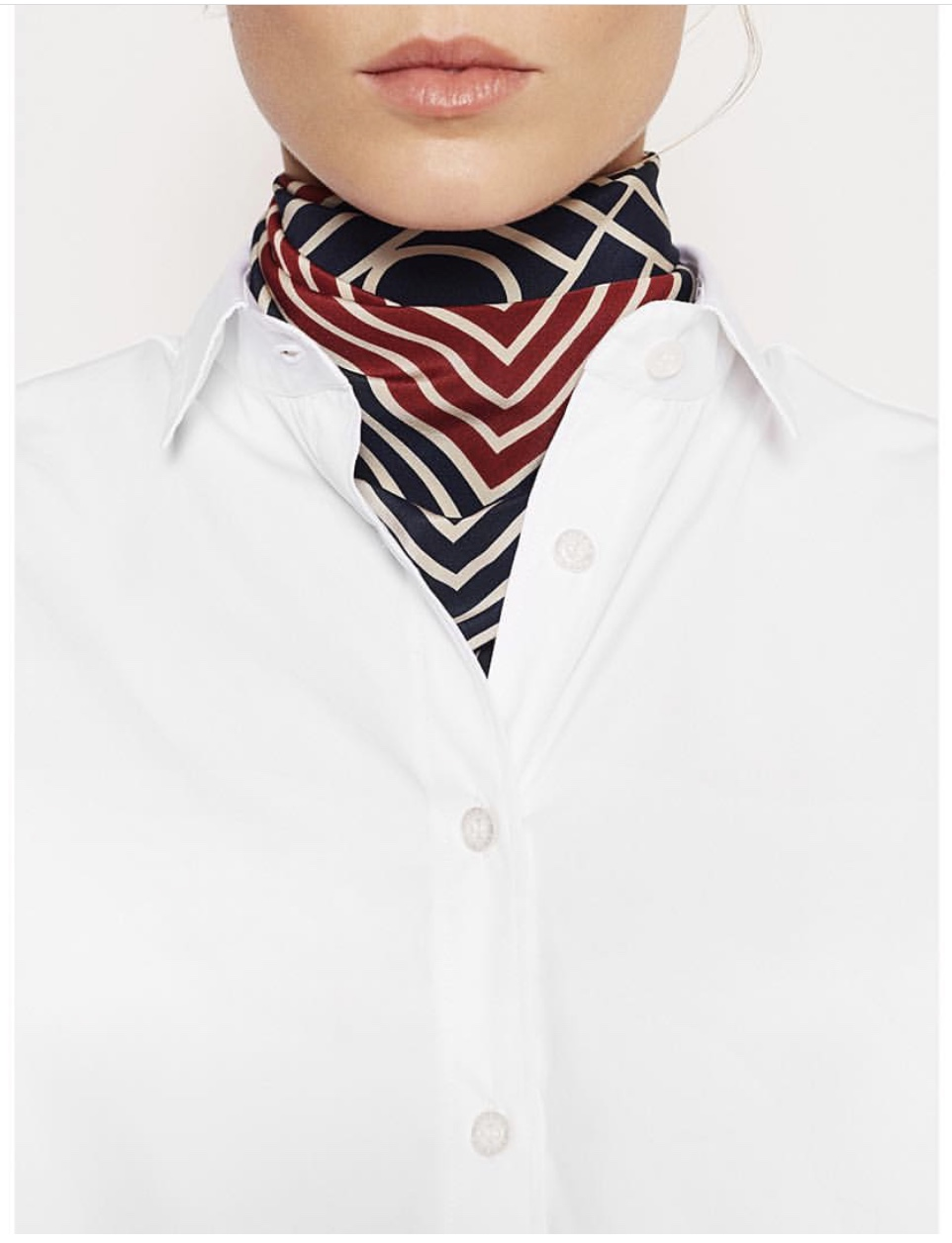 Navy RED 100 SILK monogram striped print san remo scarf 66 CM Square Scarf For Woman