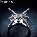 MDEAN White gold plated Bague Ring for Women Wholesale Jewelry Vintage Individuality Party Casual/Sporty rings MSR237