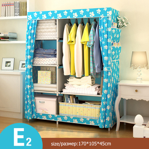 Image 4 - Modern Non woven Cloth Wardrobe Folding Clothing Storage Cabinet Multi purpose Dustproof Moistureproof Closet Bedroom Furniture
