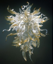 100% Mouth Blown Borosilicate Murano Glass Leaf Chandelier Wholesale Price Cheap Modern Chandeleir