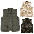 NEW outdoor protection gilet reporter photography tactical fishing camping hunting anti-wear/14 pocket/multi-purpose casual vest