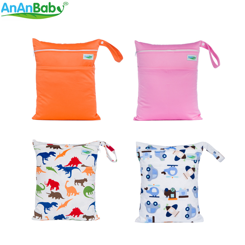 Plain Color Baby Products New Arrival Parents Choice Wet Bag With Zipper Pockets Diaper Bags Plain And Machine Series