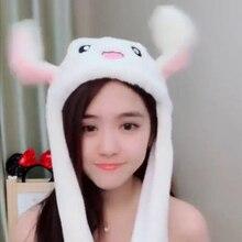 Новинка, милая плюшевая шапка в виде кролика, интересный подарок для девочек