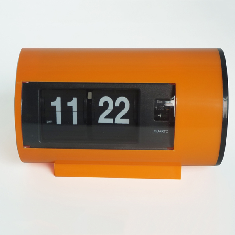 Retro-tafelklok Auto-draaiklok 12 uur AM / PM-indeling Display Uurwerk Bureauklok Flip Page Draaiende klokken