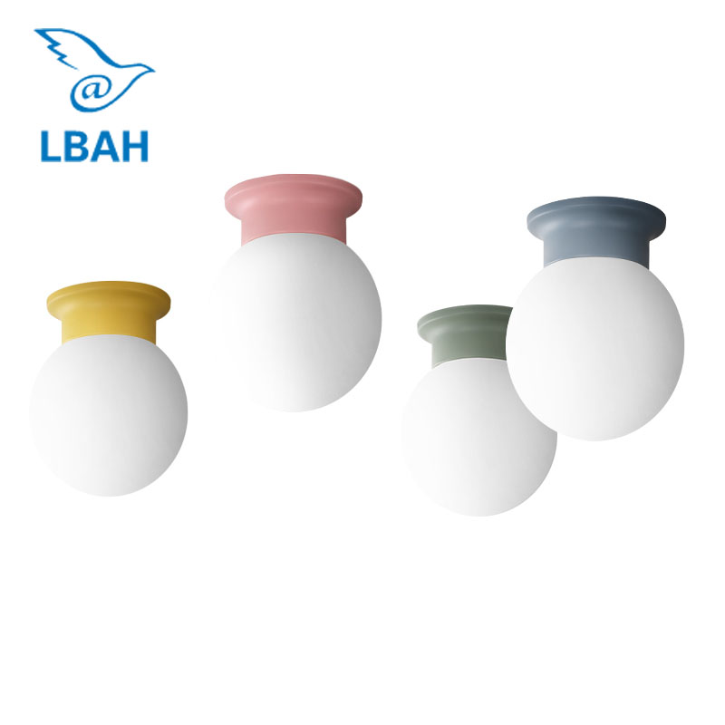 Nordic modern corridor macarons small color ceiling light living room dining room bedroom ceiling light balcony lamps