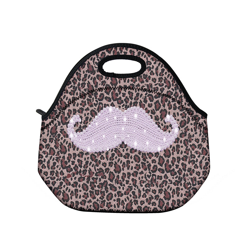 Mustache Kids Neoprene Lunch Bag Thermal Insulated Lunch Bag For Women Food Bag Tote Waterproof Cooler Lunch Box bag