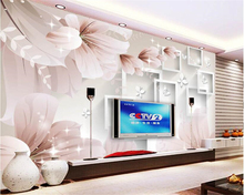 цены beibehang wallpaper for walls 3 d Fashion personality dream flowers 3d stereo box TV background wall interior painting wallpaper